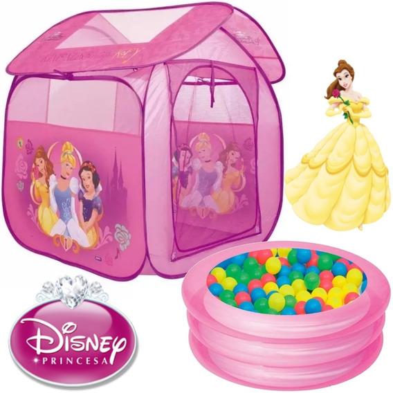 Barraca Infantil Princesa Casa Menina Piscina Rosa Bolinhas