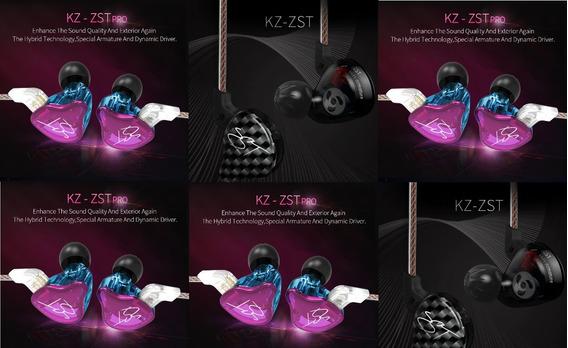 Fone Ear Kz Zst Profissional Monitor Palco Promoção Novo R