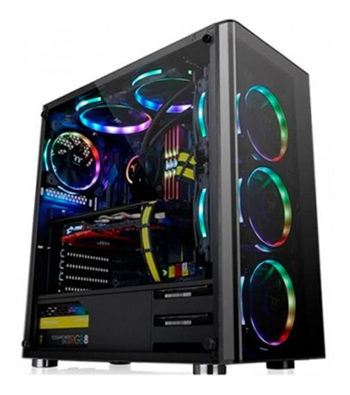 Gabinete Thermaltake Amd Ryzen V200 Tg Negro C/psu 500w Pce