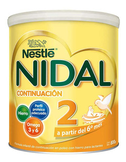 Fórmula Infantil Nidal 2 De 800 Grs