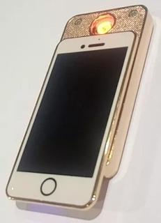 Isqueiro Elétrico Recarregável Cigarros Usb Modelo iPhone