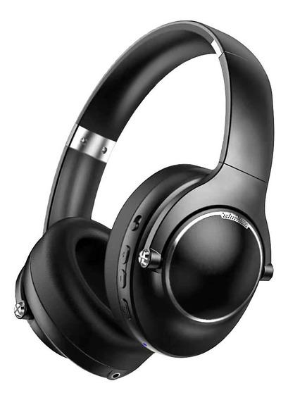 Preto Anc Redução De Ruído Activo Sem Cabeça Bluetooth Heads