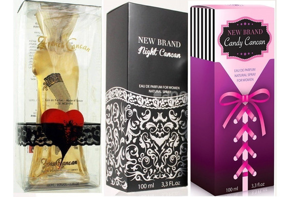 Kit 3 Perfumes New Brand Cancan - French,candy E Night