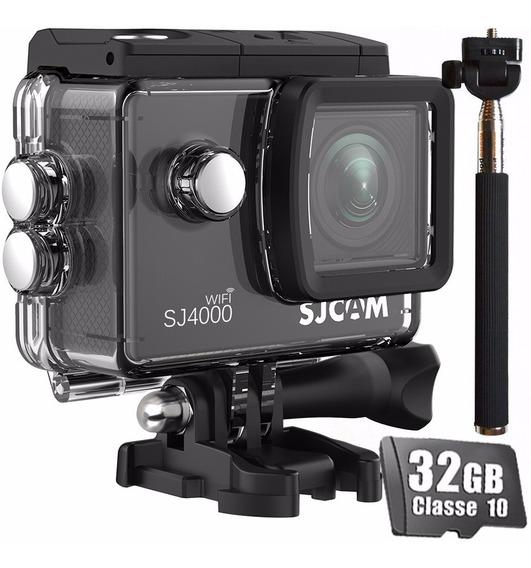 Câmera Esportiva Sjcam Sj4000 Wifi Filmadora +32gb +bastao