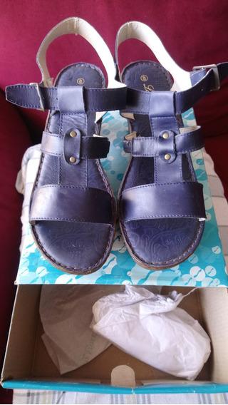 Sadalias Lady Stork 100% Cuero Vacuno Talle 40 Color Jean