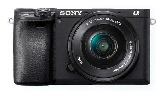 Câmera Digital Sony Alpha 6400 Com Sensor Apsc, 24,3mp, Tela