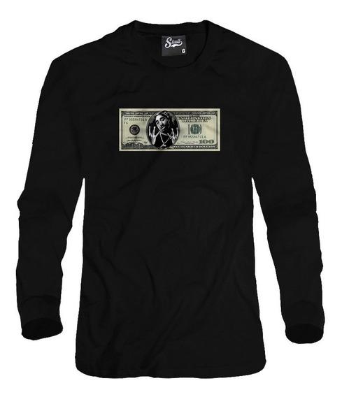 Blusa De Frio Moletom Estampado Tupac Dollar Americano Rap
