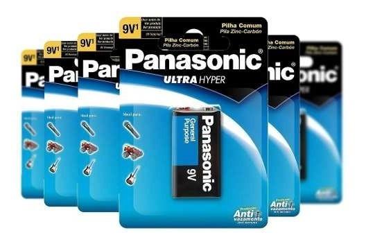 Bateria 9v Panasonic Anti Vazamento Com 15 Cartelas