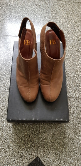 Zuecos/zapatos Con Taco. Marrones.Febo.
