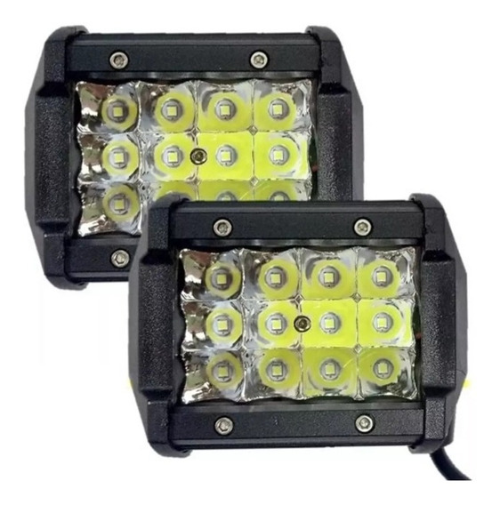 2 Faros Led 36w Tipo Barra Luces Jeep Universal Spot Dually