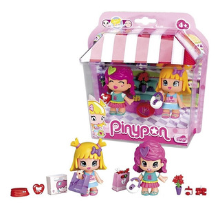 Pinypon 2 Amigas De Shopping Con Accesorios - Famosa