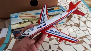 Juguete Avion Antiguo Jumbojoy A Fricción Pan Am