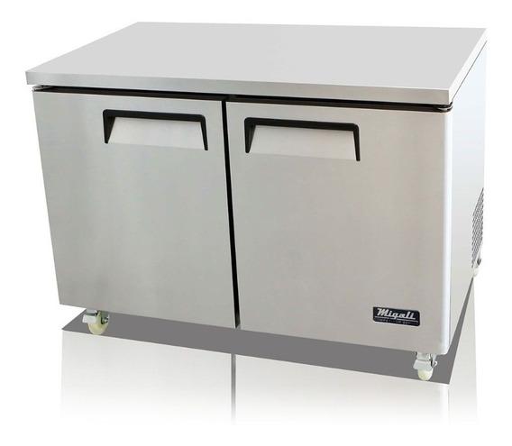 Mesón Refrigerado De 2 Puertas En Acero Inoxidable
