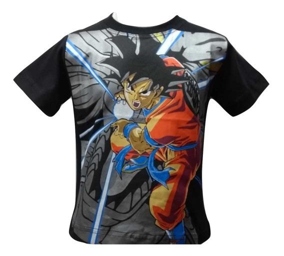 Camiseta, Dragon Ball Z Manga Curta Infantil 02 Ao 16 Anos