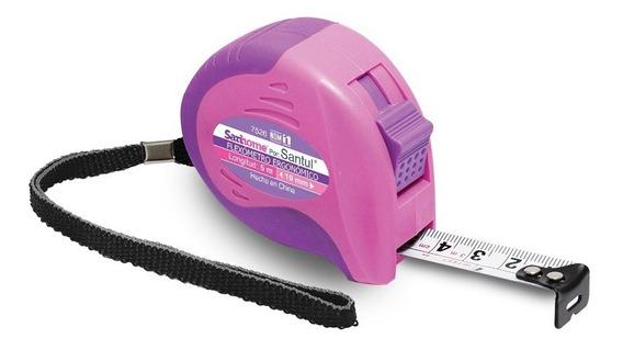Flexómetro Ergonomico De 5 M Color Rosa Santul