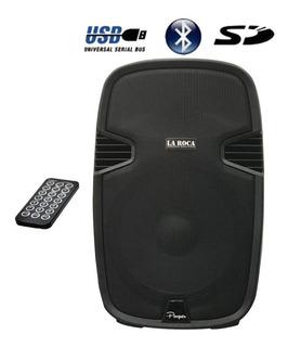 Bafle Activo Potenciado 480w Bluetooth Usb Sd La Roca - Cuotas