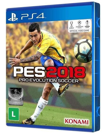 Pro Evolution Soccer (pes) 2018 - Ps4 - Mídia Física