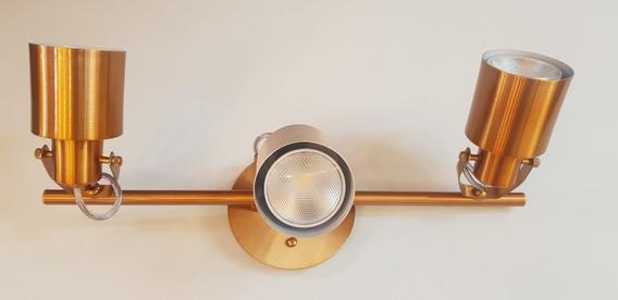 Spot Trilho Flex Cobre 418/3 Spot Line 3 X E27