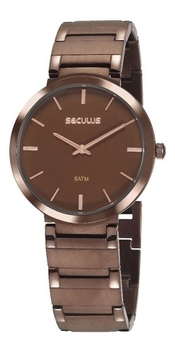 Relógio Seculus Unissex 24214gpsvma5 Chocolate