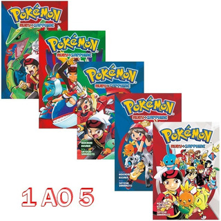 Pokémon Ruby & Sapphire 1 Ao 5 Mangá Panini! Novo E Lacrado!