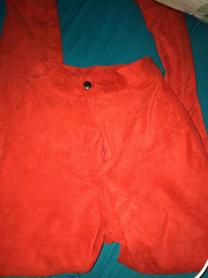 Pantalón Rojo Gamuza
