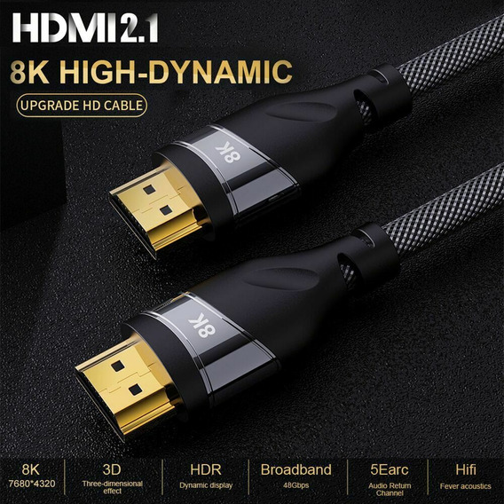 8 K Hdmi Cabo Real Uhd Hdr 8 K 48 Gbps Hdcp 3d Hdmi Cabo 1.5