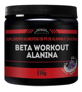 Beta Alanina Em Pó Alanina + Cafeína Pré Treino Nitech