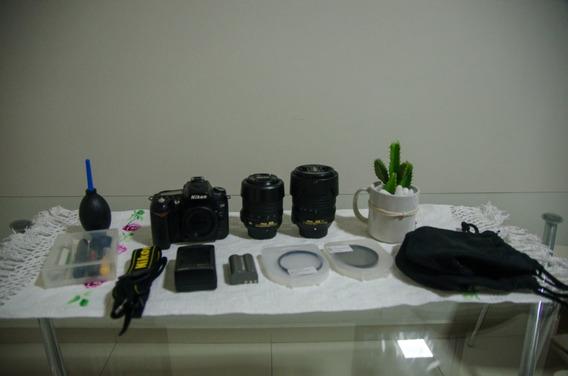 Kit Lentes; 18-140mm, 18-55mm, 50mm, Filtros E Nikon D90