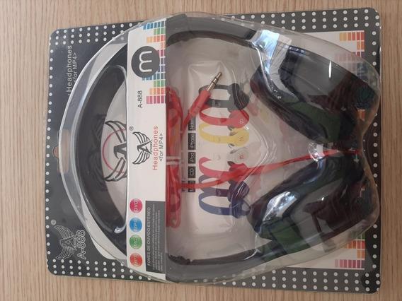 Fone Com Fio Headphone Altomex A-888 Preto