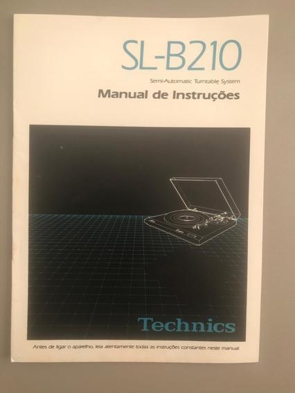 Manual De Instrução (português)- Toca-disco Technics Sl-b210