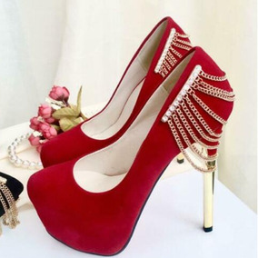 67e5b2a6f Lindo Sapato Importado Feminino Salto Alto Scarpin Festa Top. 3 cores. R   398 43