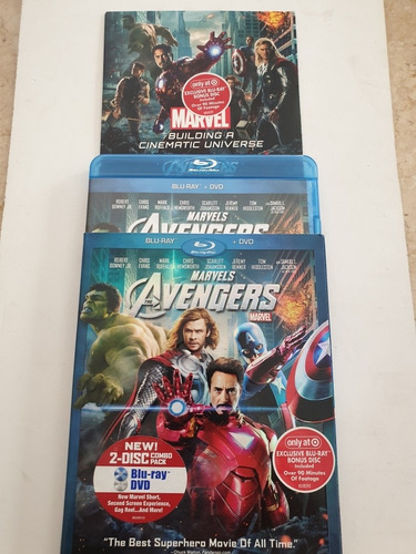 Blu Ray Avengers + Dvd Marvel Target Exclusive Bonus Cover
