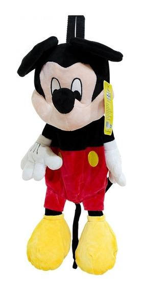 Mochila Infantil Mickey Mouse Pelúcia Licenciado Disney