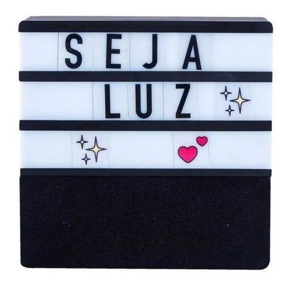 Speaker Led Letras - Preto
