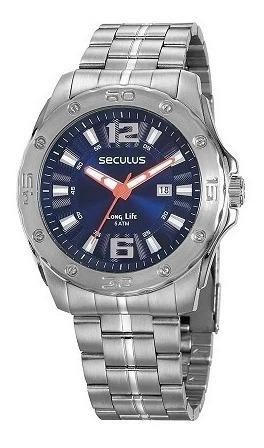 Relógio Seculus Masculino Long Life Com Garantia E Nfe