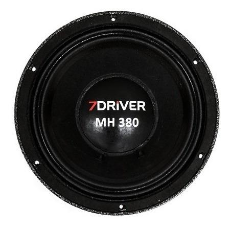 Alto Falante Woofer 7 Driver Mh 380 Rms 8 Polegadas 8 Ohms