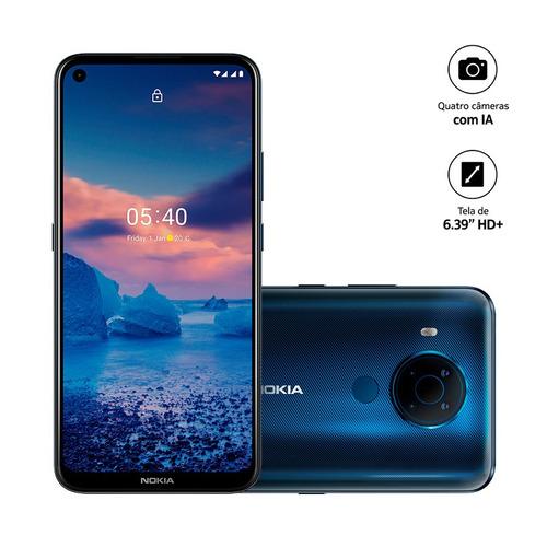 Smartphone Nokia  5.4 Nk025 Tela 6,39 128gb 4gb Ram - Azul