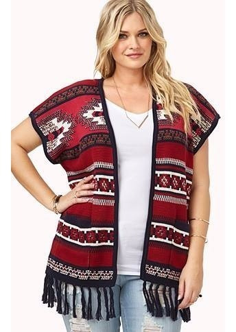 Cardigan Chaleco Forever 21 Plus Talle X2 Usa-3954
