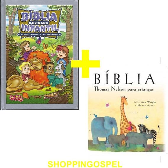 Bíblia Infantil Ilustrada + Bíblia Thomas Nelson Crianças