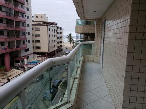 Imagem 1 de 14 de Apartamento 3 Dormitórios 100m Praia Ocian Entrada 165 Amf59