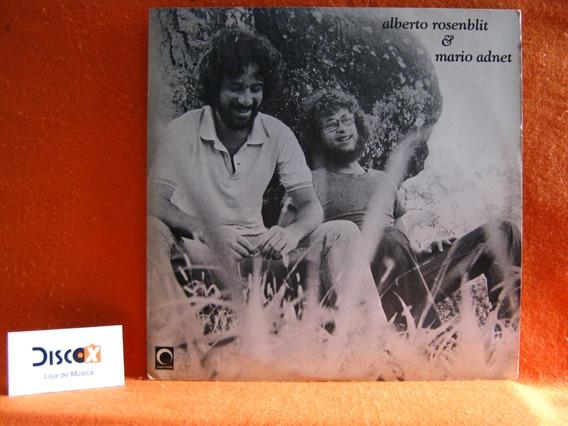 Alberto Rosenblit Mario Adnet - Lp Disco De Vinil Raro