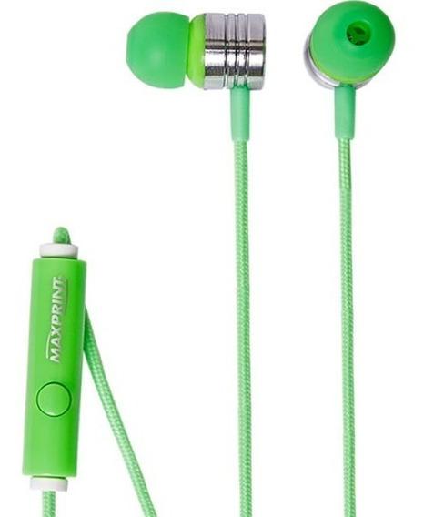 Earphone Com Mic Neon Green Max 6012240