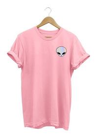 Camiseta Feminina Baby Look Et Alien Espelhado Tumblr Tshirt