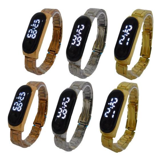 Kit 10 Relógios Led Digital Moda 2020 Lançamento Atacado