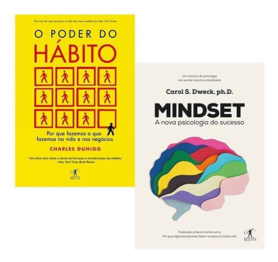Kit Livros Mindset + O Poder Do Hábito - Novo Lacrado