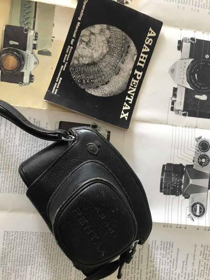 Máquina Fotográfica Pentax Spotmatic Rara Com Manual