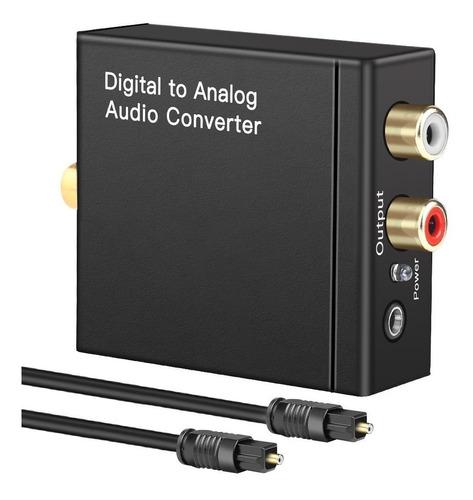 Convertidor Audio Digital Toslink Optico Coaxial A Rca Nuevo
