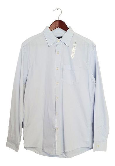 Camisa Gap Azul Claro Rayada Manga Larga