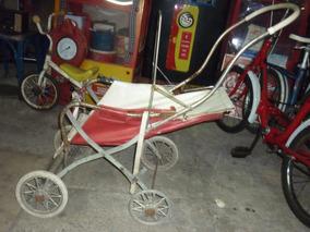 Antiguidades Carrinho De Bebê Antigo Pedalcar Triciclo Retrô