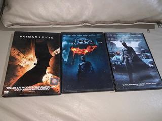 Coleccion De Dvd Saga De Batman De Christopher Nolan